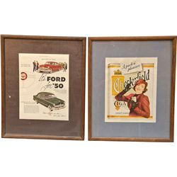 Lot Of 2 Vintage Paper Advertisements: