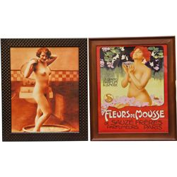 Lot Of 2 Nude Prints In Frames: