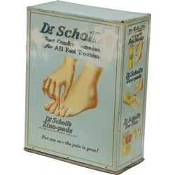 Vintage Dr. Scholl's Store Counter Tin Display Rack