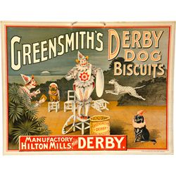Greensmith's Derby Dog Biscuits Cardboard Lithograph