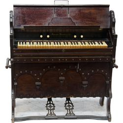 Antique Oak Case Travel Size Pump Organ