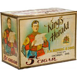 King's Herald Cigar Humidor Tin Container