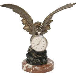Bronze Figural Eagle Pocket Watch Holder