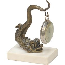 Bronze Figural Sea Monster Pocket Watch Holder