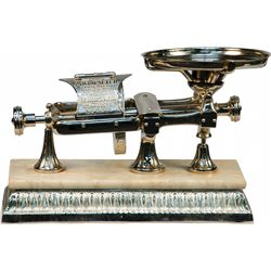 "Early ""The Micrometer"" Silver Plated Cast-Iron & Marble"
