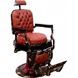 "Restored ""Koch"" Round Seat Barber Chair"