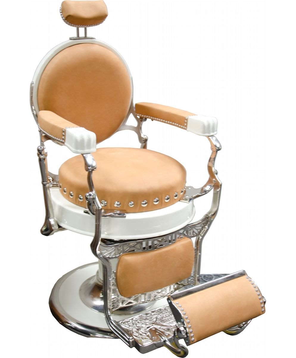 Antique barber chairs koken - Restored Round Seat Round Back Koken Barber Chair Loading Zoom