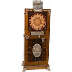 "5 Cent Mills ""The Judge"" Upright Floor Slot Machine"