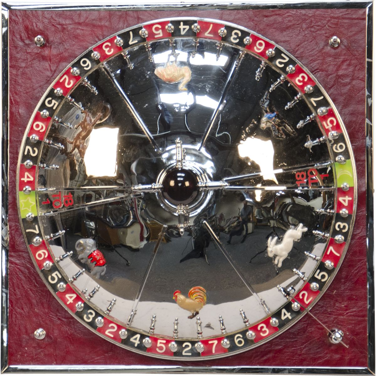Small roulette style animal race betting table wheel ga - Petite table a roulette ...