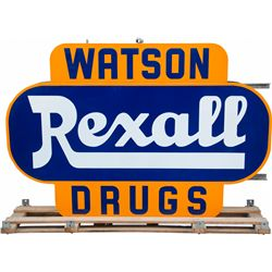 "Large Rexall ""Watson Drugs"" Double-sided 3D Sign in"