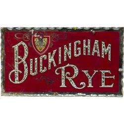 Buckingham Rye Reverse On Glass, Scalloped Edges Sign