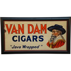 VAN DAM Cigars Embossed Tin Sign