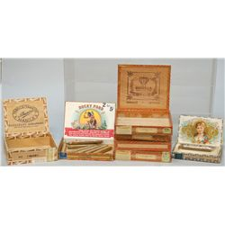 Lot Of 7 Vintage Misc. Cigar Boxes