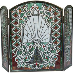 Ornate Folding Sides Stained Glass Window