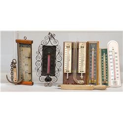 Lot Of 8 Early Misc. Barometers & Thermometers