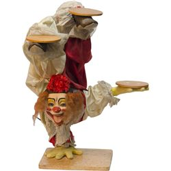Vintage Mechanical Figural Clown Store Display Statue