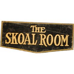 THE SKOAL ROOM Hand-Painted Double Sided Wood