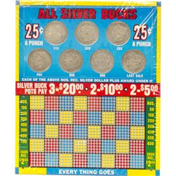All Silver Bucks N.O.S. Punchboard