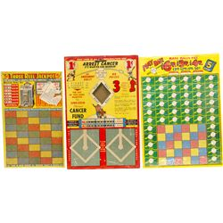 Lot Of 3 N.O.S. Punchboards