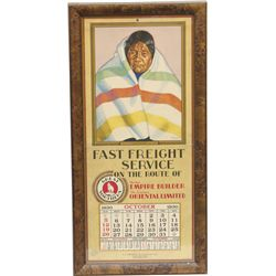 Vintage Great Northern R.R. Calendar