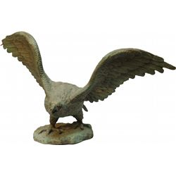 Early Paper Mache Figural American Eagle Statue