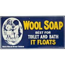 WOOL SOAP Embossed Tin Sign