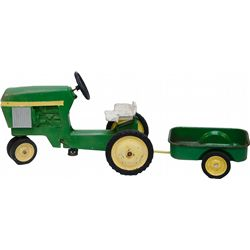 Vintage John Deere Child's Tractor Trailer Tricycle w/