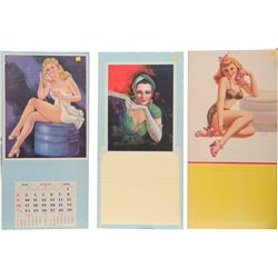 Lot Of 6 Misc. Pin-Up Girlie Advertisement Calendars