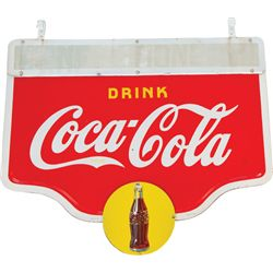 Large Drink Coca Cola Die-Cut Double Sided Porcelain