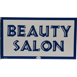 BEAUTY SALON Double Sided Flange Porcelain Sign
