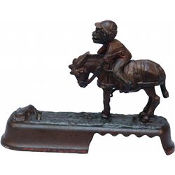 Antique Cast-Iron I Always Did Spise A Mule, Jockey Mec