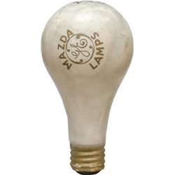 "Large GE ""MAZDA LAMPS"" Paper Mache Figural Light"