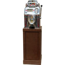 10 Cent O.D. Jennings Chief Tic-Tac-Toe Slot Machine c1