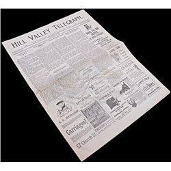 Back To The Future 3 - Hill Valley Telegraph Newspaper