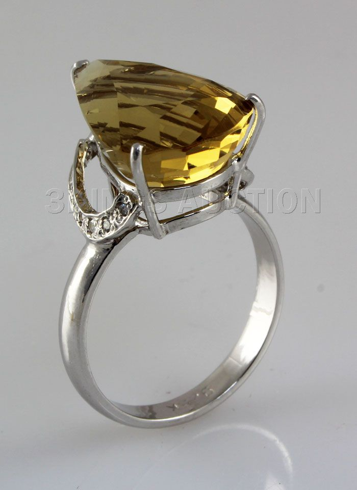 gold hot crystal plated design ring white for rings gray green big rhinestone item new flower stone