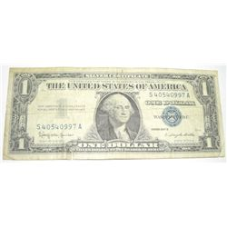 1957 SERIES B $1 SILVER CERTIFICATE SERIAL # S40540997A *PLEASE LOOK AT PICTURE TO DETERMINE GRADE*!