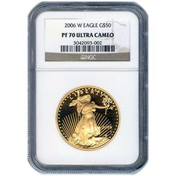 Certified Proof American Gold Eagle $50 2006-W PF70 NGC