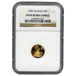 Certified Proof American Gold Eagle $5 1995 PF69 NGC