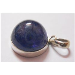NATURAL 41.85 CTW TANZANITE ROUND CABUSHION PENDANT .92