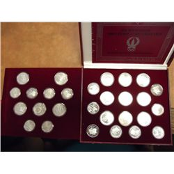 1980 RUSSIA OLYMPIC COIN COLLECTION 28 SILVER PF