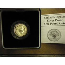 1986 UNITED KINGDOM SILVER PROOF 1 POUND COIN