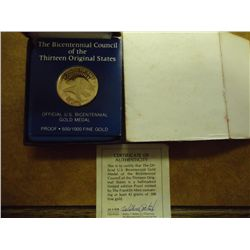 1776-1976 US BICENTENNIAL COUNCIL OF THE 13