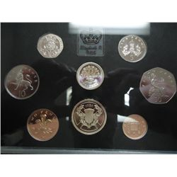1986 UNITED KINGDOM PROOF COIN SET