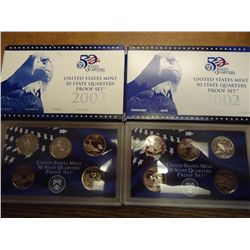 2002 & 03 US 50 STATE QUARTERS PROOF SETS