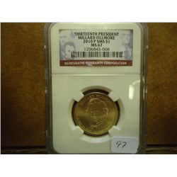 2010-P SMS FILLMORE $ NGC MS67