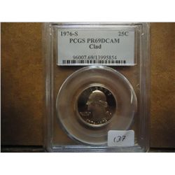 1976-S WASHINGTON QUARTER PCGS PR69 DCAM