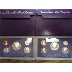 1989 & 90 US PROOF SETS (WITH BOXES)