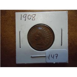 1908 INDIAN HEAD CENT (AU)