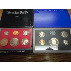 1972 & 82 US PROOF SETS (WITH BOXES)
