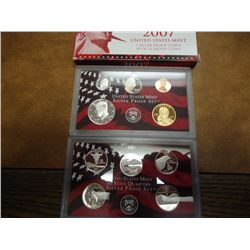 PARTIAL 2007 US SILVER PROOF SET (WITH BOX)
